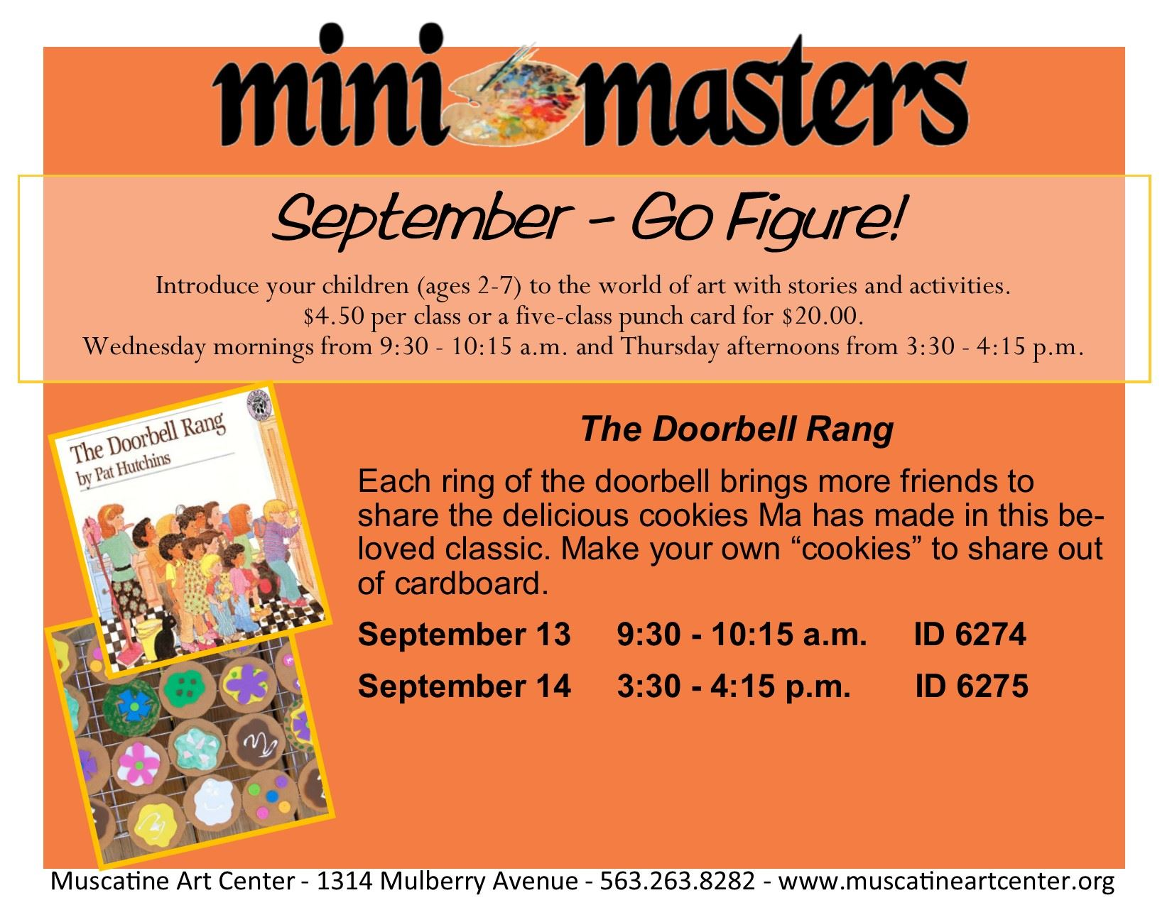 Sept 13-14  - Mini Masters - The Doorbell Rang