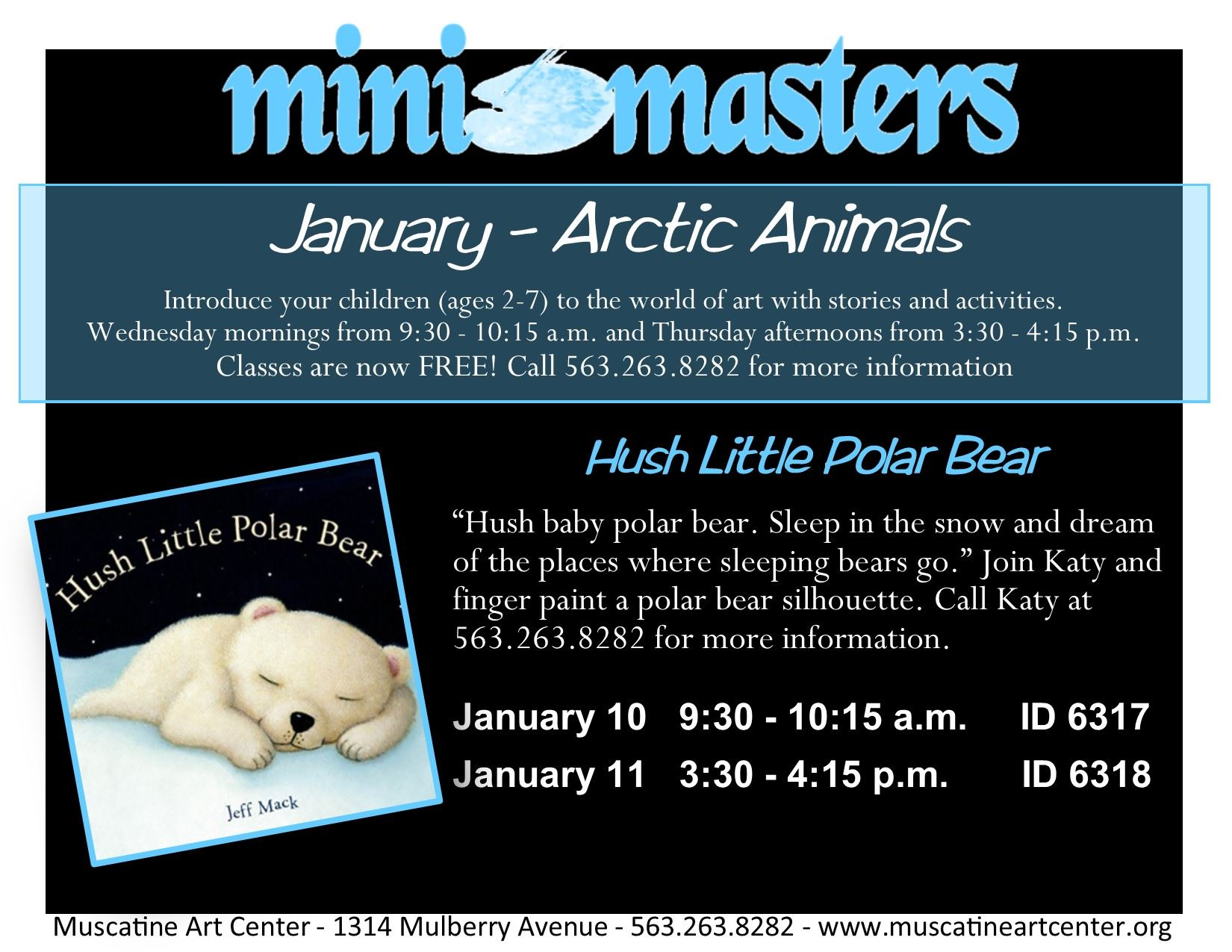 January 10-11 - Mini Masters - Hush Little Polar Bear