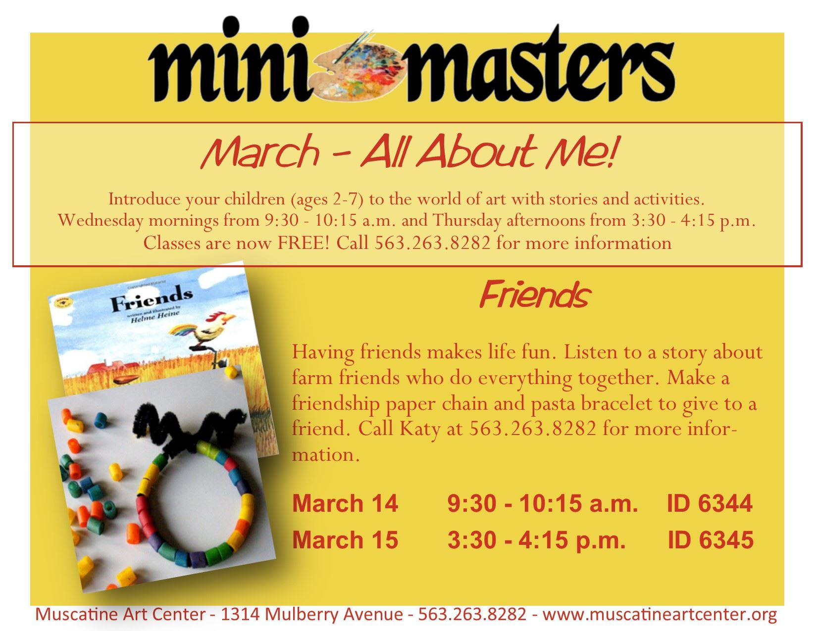 March 14-15 - Mini Masters - Friends