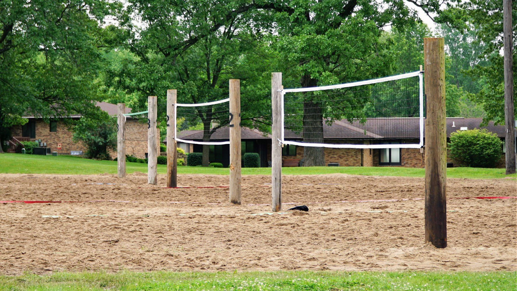 Sand Pit Volleyball Courts
