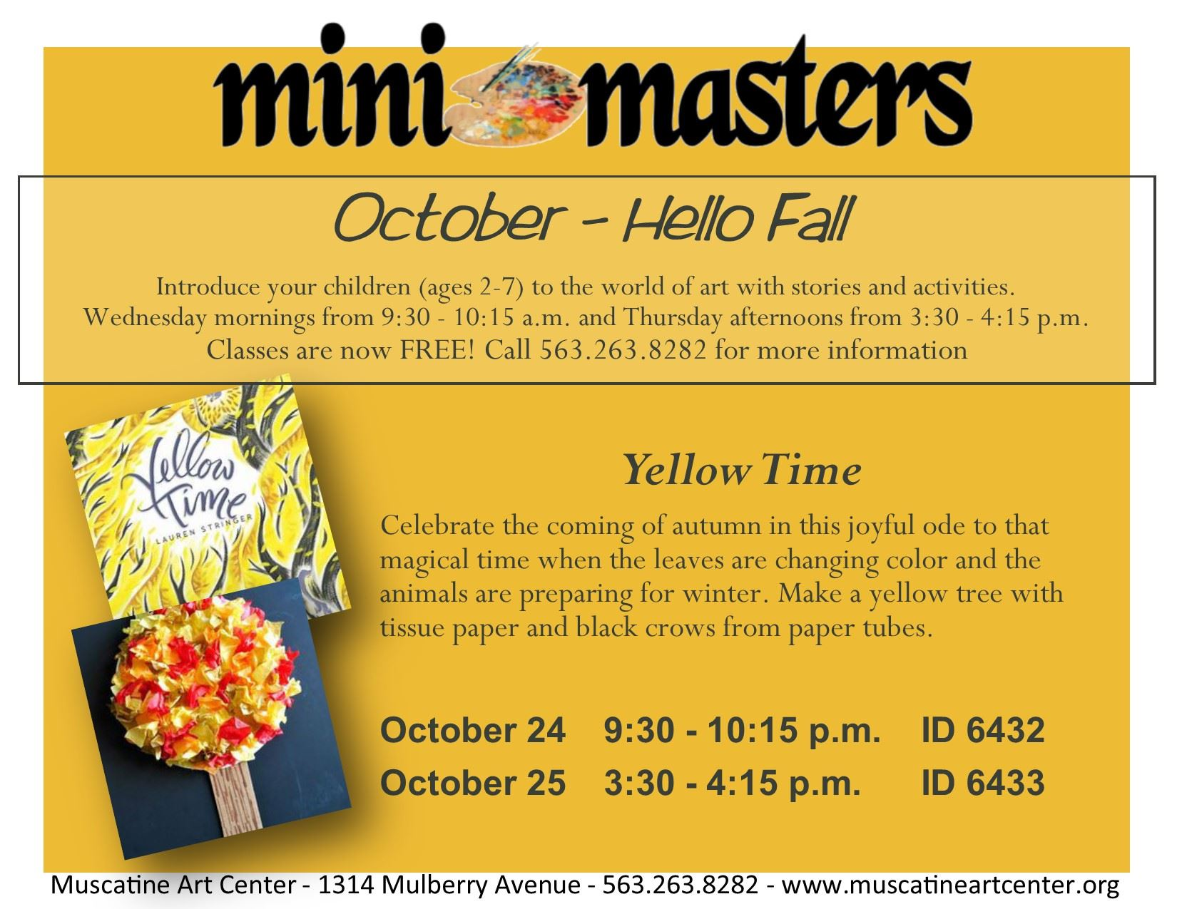 October 24-25 - mini masters - Yellow Time