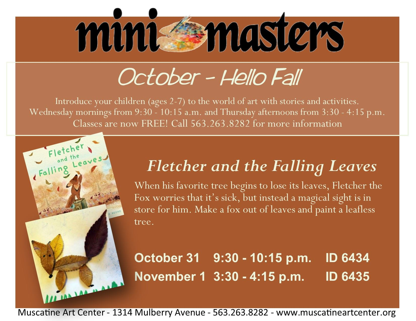 October 31-1 - mini masters - Fletcher and the Falling Leaves