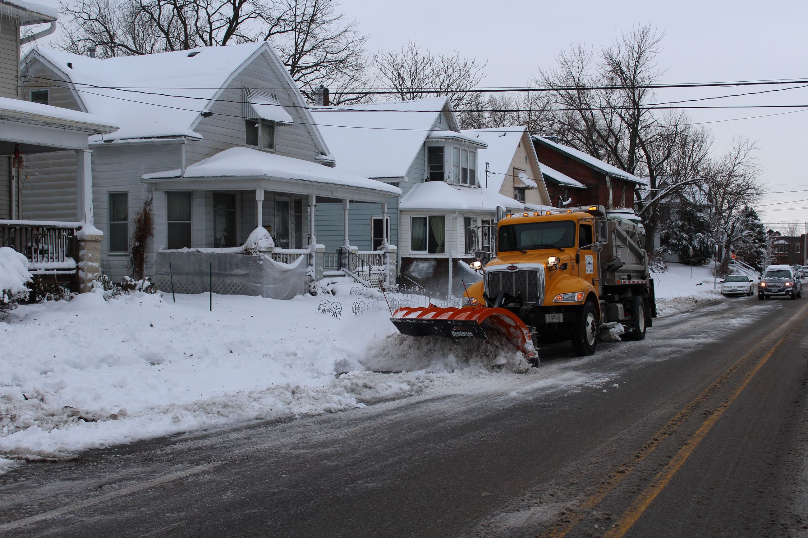 112718 Snow Plowing on Mulberry