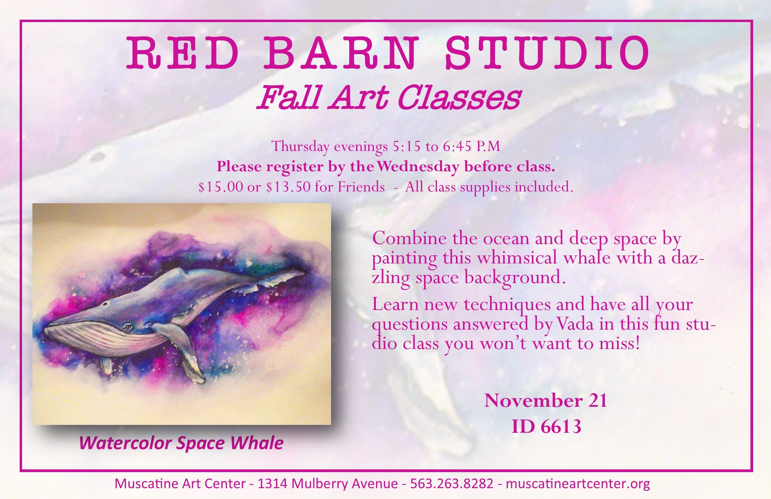 RBS - November 21 - Watercolor Space Whale
