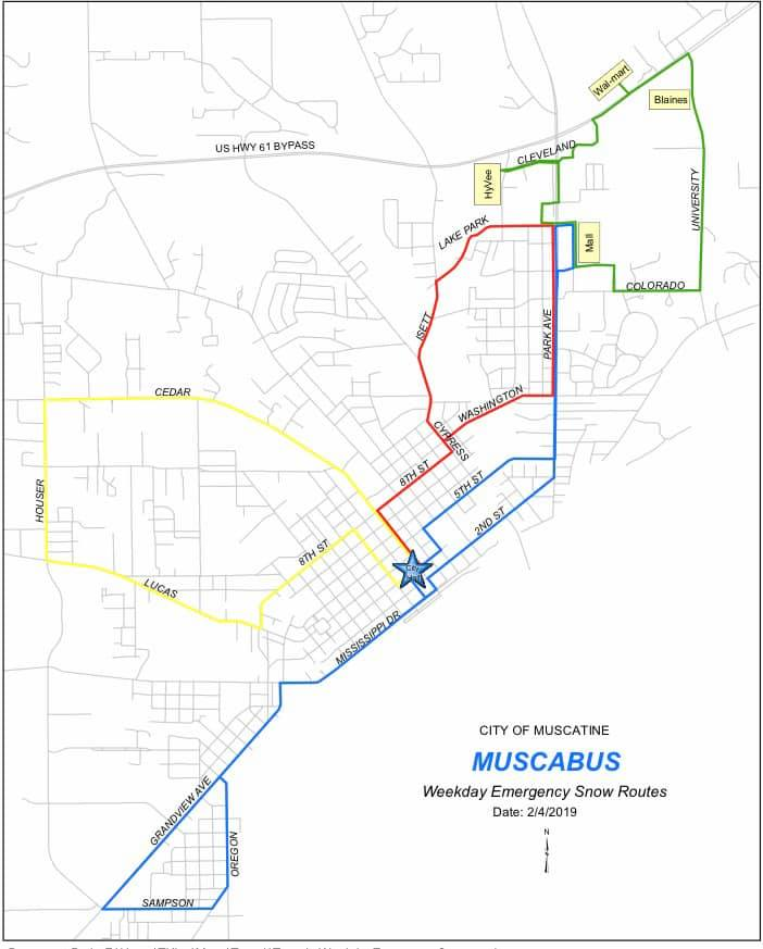 MuscaBus Weekday Snow Routes (JPG)