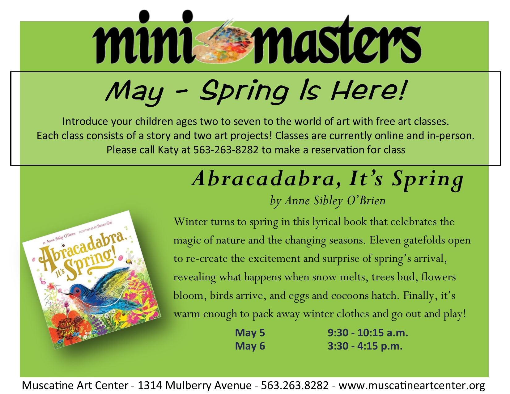 May 5-6 - Abracadabra, Its Spring - mini masters